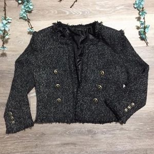 4/$25 Papaya Tweed Crop Blazer